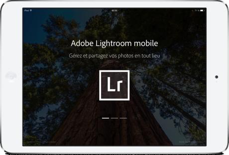 Adobe Lightroom mobile pour iPad