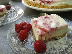 Cheesecake au citron vert et coulis de framboises (sans ...
