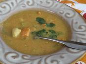 Soupe épicée poulet patate douce