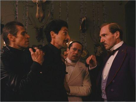 The Grand Budapest Hotel : Photo Adrien Brody, Mathieu Amalric, Ralph Fiennes, Willem Dafoe