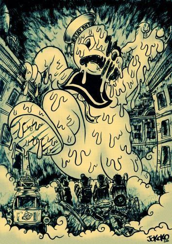 BD,bd,bande dessinée,illustration,dessin,dessinateur,scénariste,critique,album,série, dessin original,cinema,cine, Komiks kronik, Chewbacrunk & Doctor G, Jo Koko, Ghostbusters,interview,illustration,