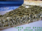 Tarte épinards cream cheese chèvre