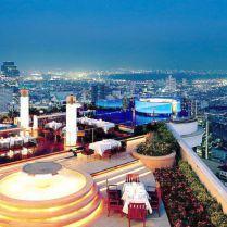 En promenade : Le Skybar à Bangkok