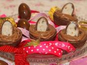 Tartelettes cacao, ganache chocolat Kinder caramel {Paques}