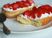 Brioche toastée, cream cheese fraises