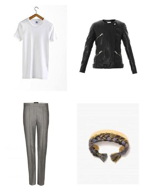 Moodboard Grey White and Leather