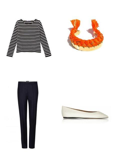 Moodboard Navy Blue & Orange