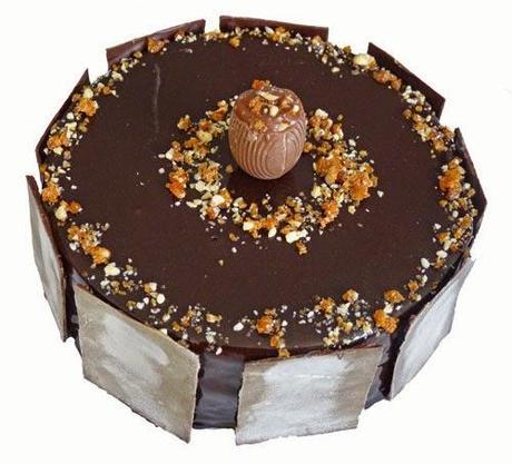 Entremets Mousse Ganache Montee Chocolat Blanc Vanille Et Cremeux