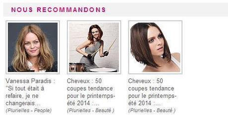 La recommandation sur les sites féminins