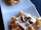 Mini gaufres salées jambons, roquefort noisettes