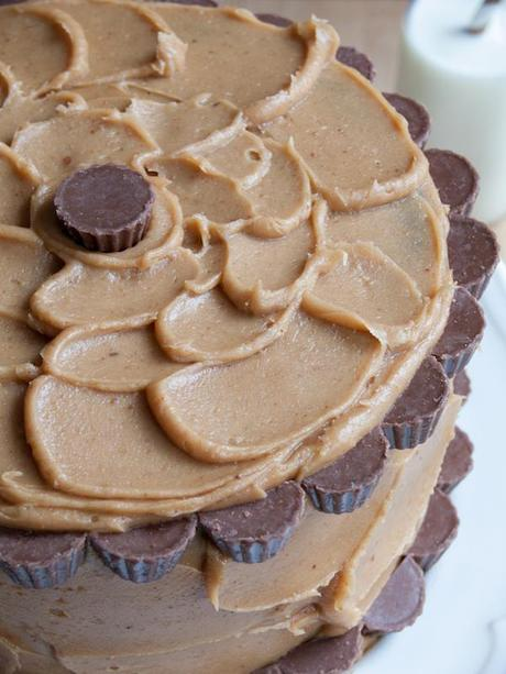 Peanut Butter Chocolate Layer Cake 4