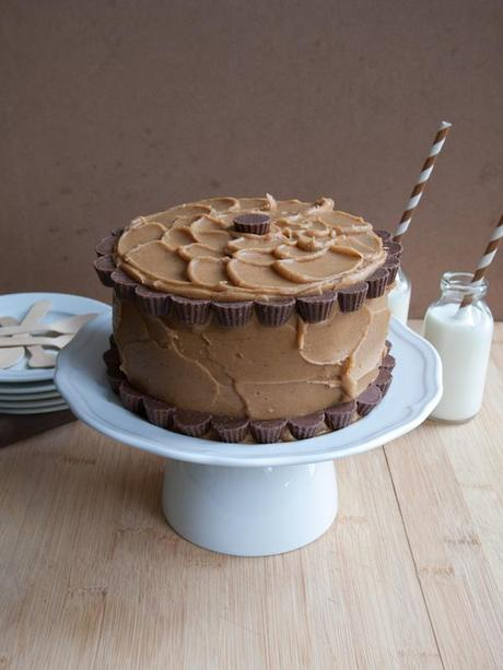 Peanut Butter Chocolate Layer Cake 8