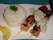 Brochette saumon herbes