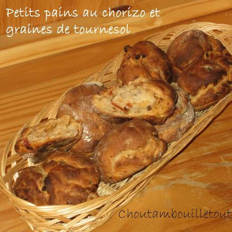 Pain au chorizo et graines de tournesol copie