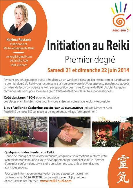 stage initiation Reiki degré 1 Logrian _n
