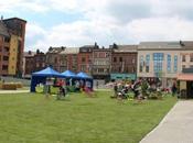 Charleroi: jardin dans Ville