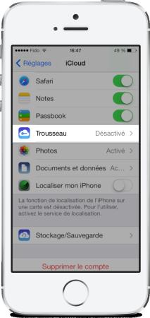 Trousseau iCloud