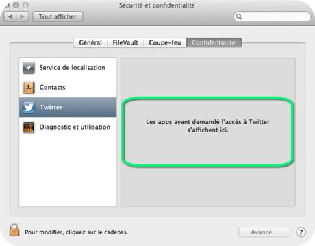 Twitter sécurité Mac Aficionados
