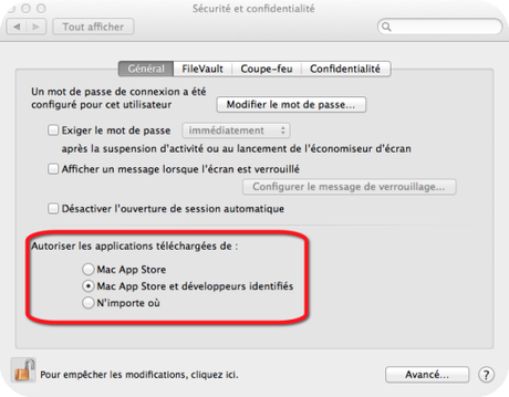 Comment activer Gate keeper Mac