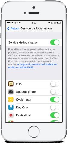 Securite iOS 7 localisation
