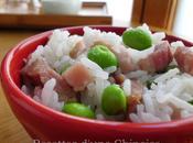 Utiliser rice cooker pour faire plat complet jambon séché edamame 毛豆腊肉饭 máodòu làròu