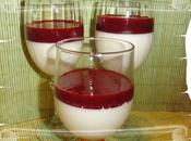 Panna cotta vert coulis fruits rouges