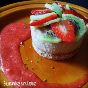 Cheesecake au Citron Vert sans Lactose (Vegan)