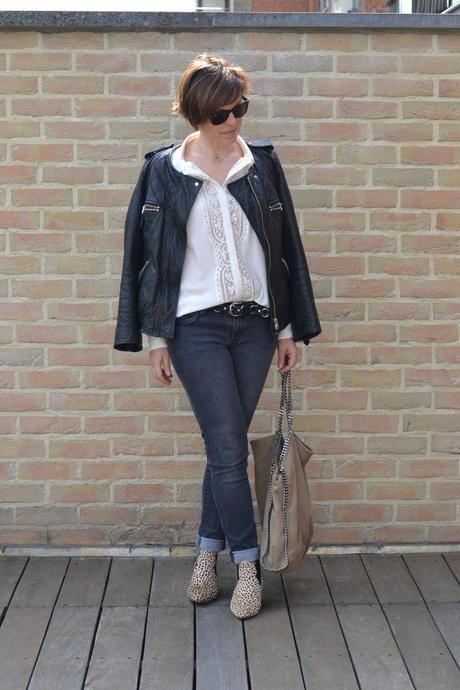 Isabel Marant leather belt and jacket 1