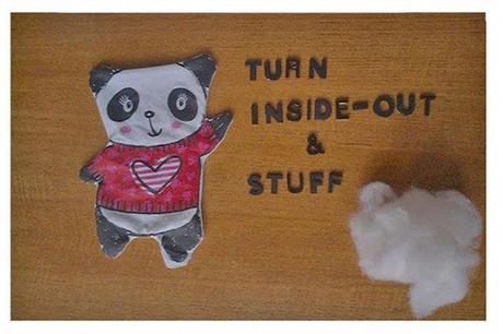 coussin tshirt panda 10 projets de couture faciles pour les enfants