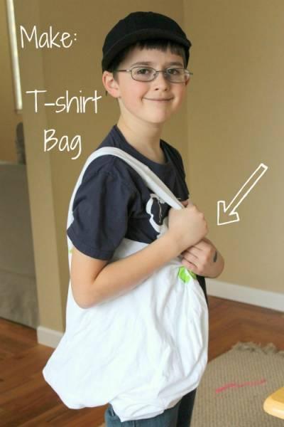 tshirt sac 10 projets de couture faciles pour les enfants