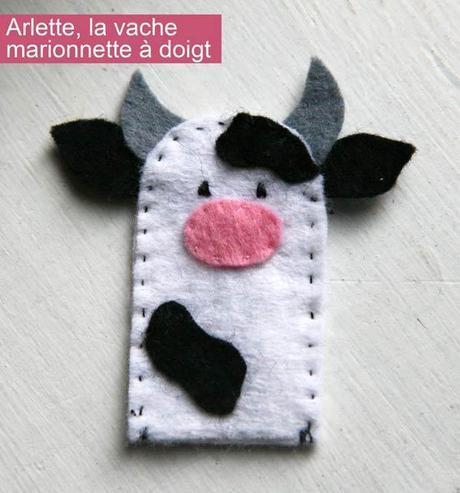 marionnette doigt vache 10 projets de couture faciles pour les enfants