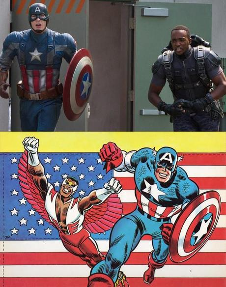 Captain America & le Faucon : Film vs Comic book