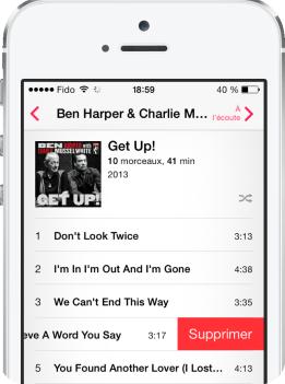 Musique iOS 8