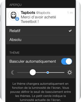 Changement theme Tweetbot