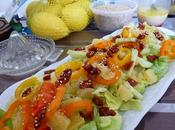 Salade fraîche colorée