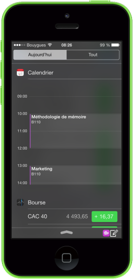 Personnaliser centre notifications iOS 7