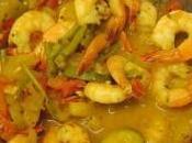 Recette cahier Mélody crevettes sauce aigre douce servies avec