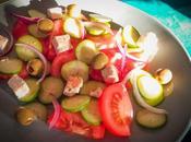 Salade Grecque souvenir Santorin