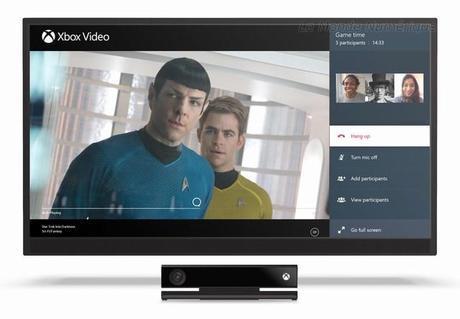 Skyper et jouer ou regarder la TV en même temps, c'est désormais possible avec la Xbox One