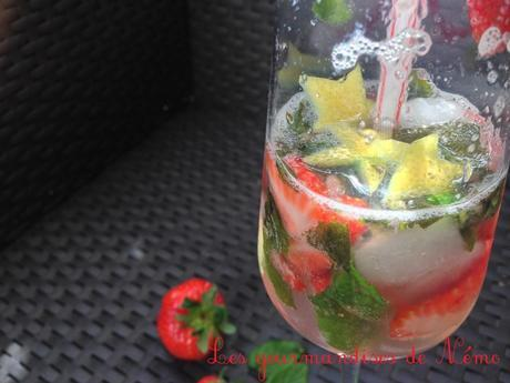 Mojito fraise sans alcool