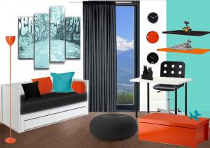 Une chambre d\'ado turquoise - Paperblog
