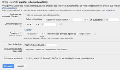 automatiser adwords