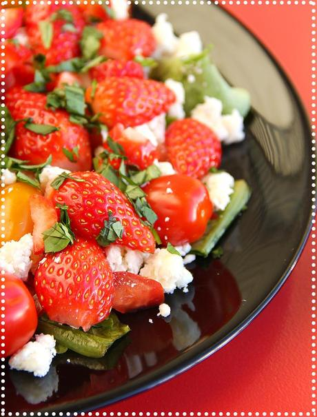 Salade tomate fraise