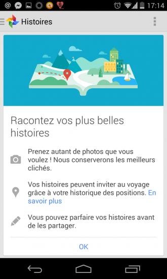 Google Plus Histoires
