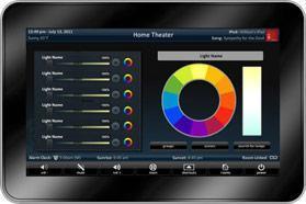 EVphilips hueIn TKP 7000 URC intègre le contrôle des ampoules HUE de Philips