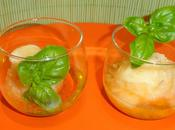 Coupe glacee sorbet melon, basilic melonade