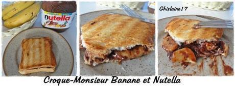 Croque-Monsieur Banane et Nutella