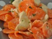 Fricassée poulet moutarde carottes