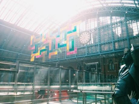 L'arrivée à Londres en gare de St Pancras