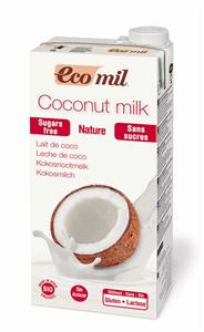 EcoMil Lait de coco sans sucres Bio 1 L